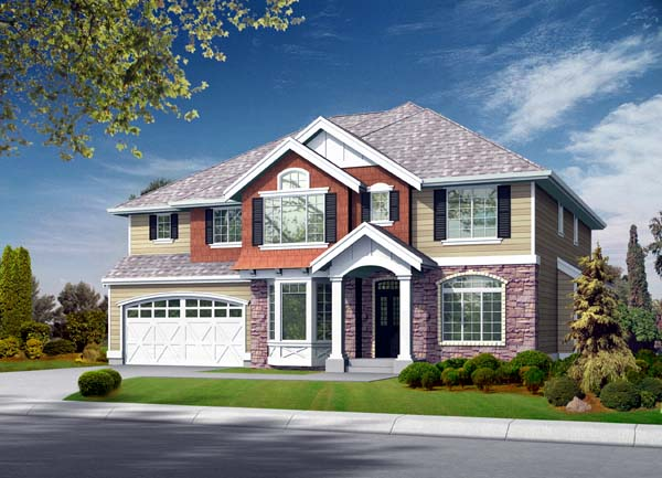 Colonial Traditional House Plan 87648 Elevation