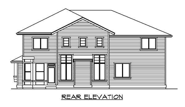 House Plan 87650 | Colonial Style Plan with 3500 Sq Ft, 4 Bedrooms, 3 Bathrooms, 3 Car Garage Rear Elevation