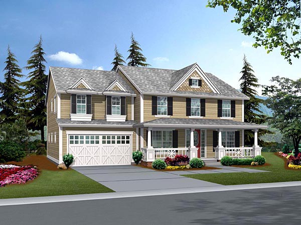 Country House Plan 87652 Elevation
