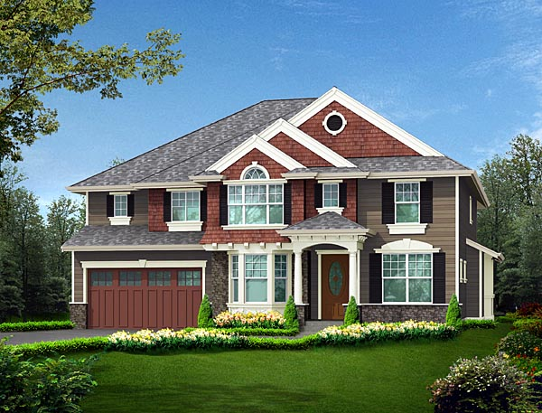 Colonial House Plan 87655 Elevation