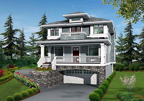 Craftsman House Plan 87658 Elevation
