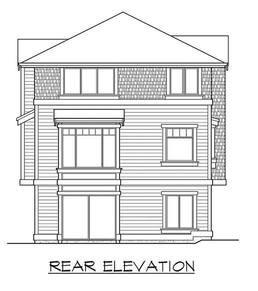Craftsman House Plan 87658 Rear Elevation