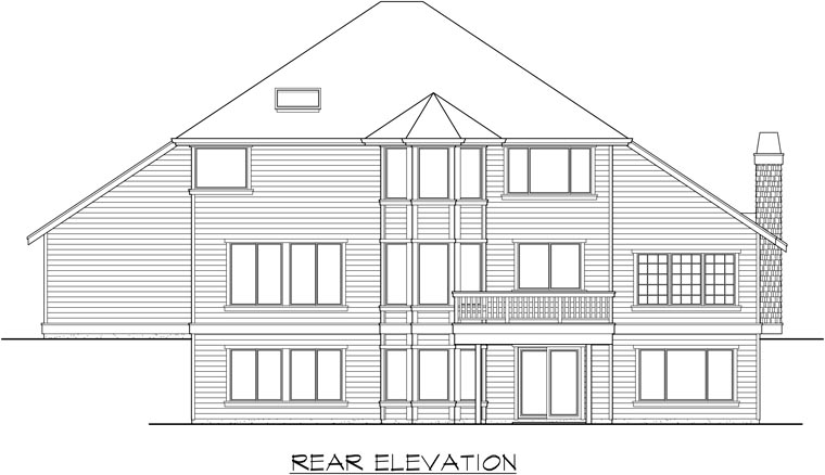 Craftsman House Plan 87661 Rear Elevation