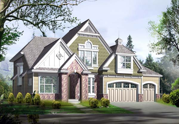 Craftsman Elevation of Plan 87664