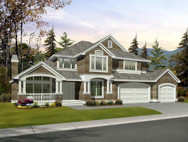 Craftsman House Plan 87665 with 5 Beds, 4 Baths, 3 Car Garage Elevation