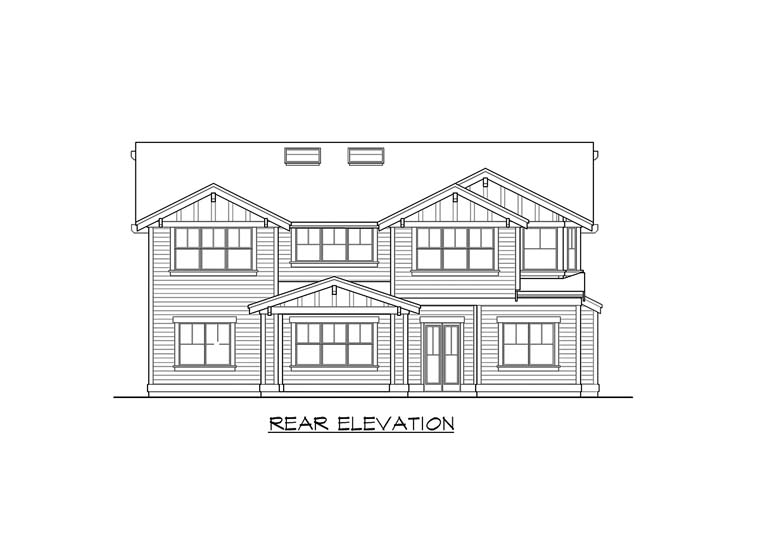 Craftsman House Plan 87671 Rear Elevation