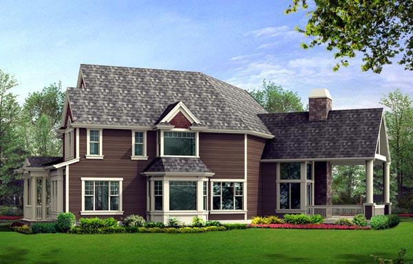 Farmhouse Victorian House Plan 87672 Rear Elevation