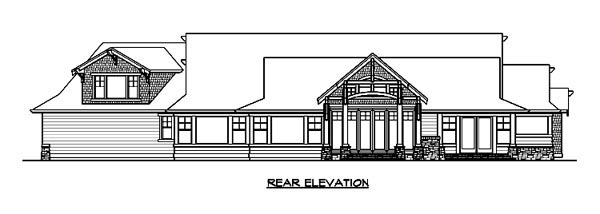 Craftsman House Plan 87673 Rear Elevation