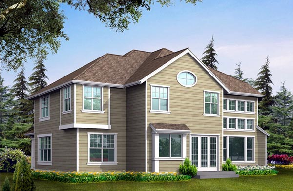 House Plan 87674 Rear Elevation