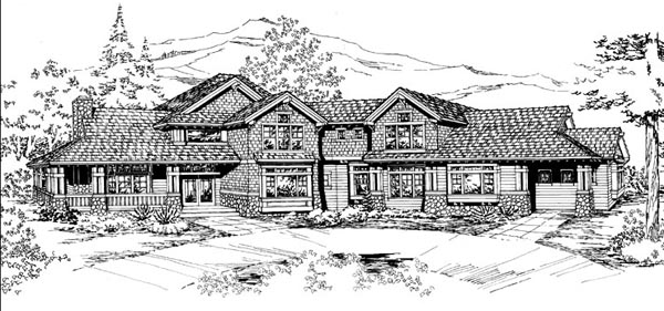 House Plan 87676 Elevation