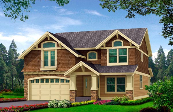 House Plan 87677 with 3 Beds, 3 Baths, 2 Car Garage Elevation