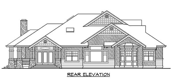 Craftsman House Plan 87678 Rear Elevation