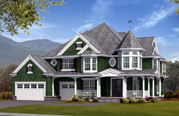 Farmhouse Victorian House Plan 87679 Elevation