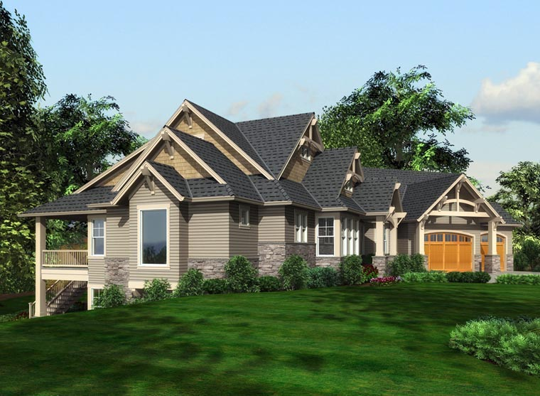 Cottage, Traditional House Plan 87681 with 5 Beds, 4 Baths, 3 Car Garage Picture 1