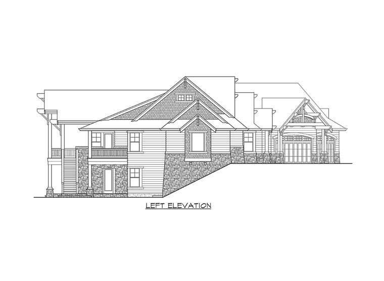 Cottage, Traditional House Plan 87681 with 5 Beds, 4 Baths, 3 Car Garage Picture 2