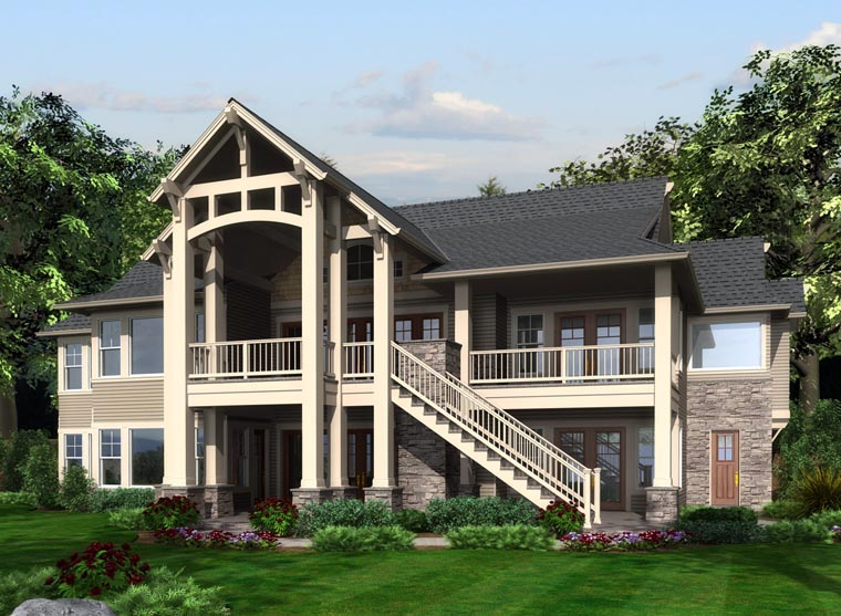 Cottage Traditional House Plan 87681 Rear Elevation