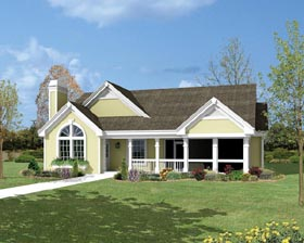 Traditional , Ranch , Country , Cottage House Plan 87800 with 2 Beds, 2 Baths, 2 Car Garage Elevation