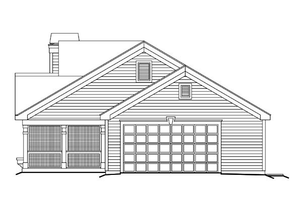 Cottage, Country, Ranch, Traditional House Plan 87800 with 2 Beds, 2 Baths, 2 Car Garage Picture 2