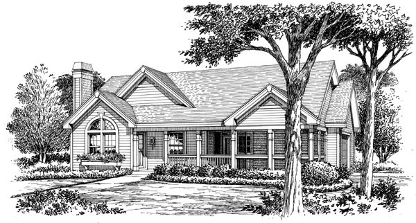 Cottage, Country, Ranch, Traditional House Plan 87800 with 2 Beds, 2 Baths, 2 Car Garage Picture 3