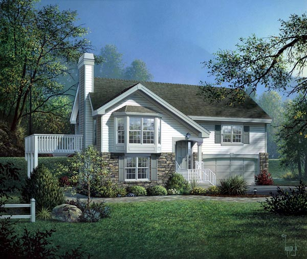 Country Traditional Elevation of Plan 87801