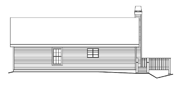 Country Traditional Rear Elevation of Plan 87801