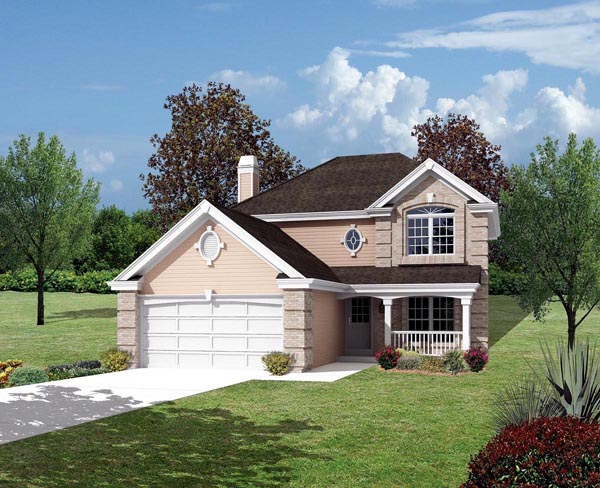 Country , Traditional House Plan 87802 with 4 Beds, 3 Baths, 2 Car Garage Elevation
