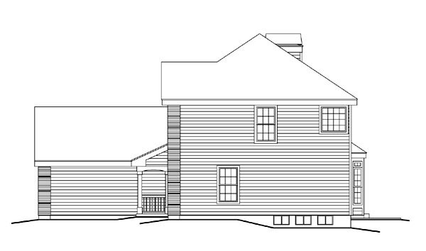 Country, Traditional House Plan 87802 with 4 Beds, 3 Baths, 2 Car Garage Picture 2