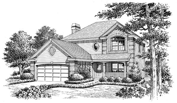 Country, Traditional House Plan 87802 with 4 Beds, 3 Baths, 2 Car Garage Picture 3