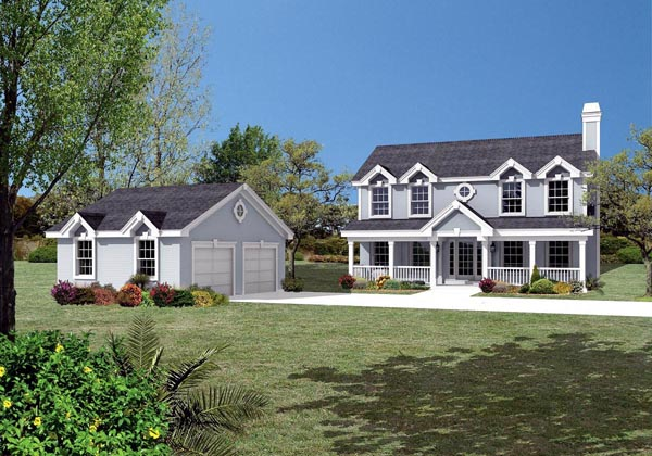 Colonial, Country, Southern, Traditional House Plan 87803 with 3 Beds, 3 Baths, 2 Car Garage Elevation