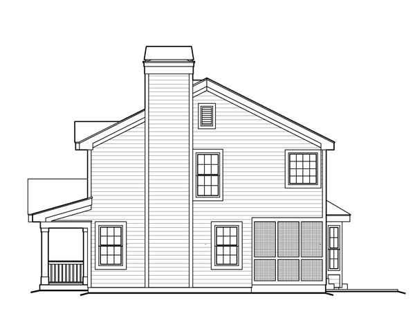Colonial, Country, Southern, Traditional House Plan 87803 with 3 Beds, 3 Baths, 2 Car Garage Picture 2