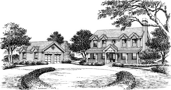 Colonial, Country, Southern, Traditional House Plan 87803 with 3 Beds, 3 Baths, 2 Car Garage Picture 3