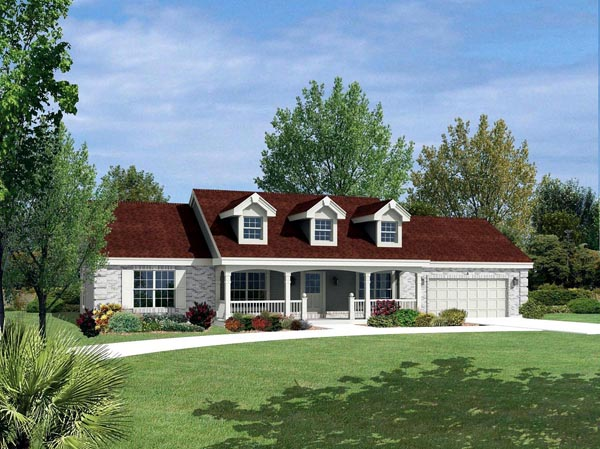Cape Cod Country Ranch House Plan 87805 Elevation