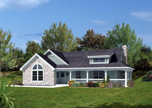 Bungalow Country Ranch Elevation of Plan 87806