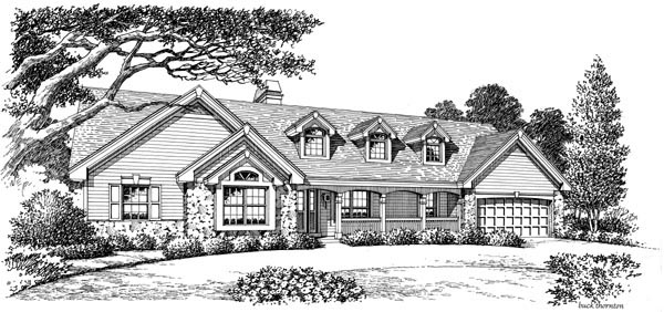 Cape Cod Country Ranch Traditional House Plan 87807