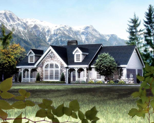 Cape cod cottage country ranch victorian house plan 87808 for Cottage ranch house plans