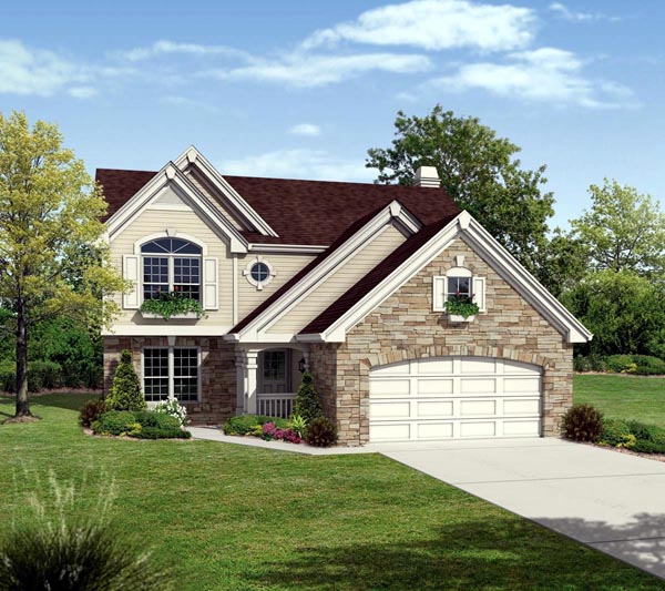 Country , Traditional House Plan 87809 with 4 Beds, 3 Baths, 2 Car Garage Elevation