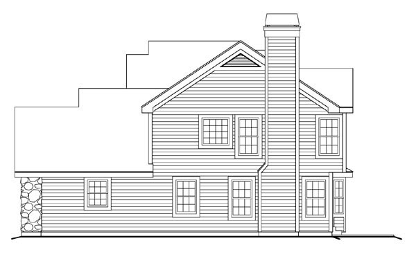Country, Traditional House Plan 87809 with 4 Beds, 3 Baths, 2 Car Garage Picture 2