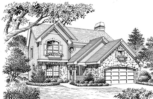 Country, Traditional House Plan 87809 with 4 Beds, 3 Baths, 2 Car Garage Picture 3