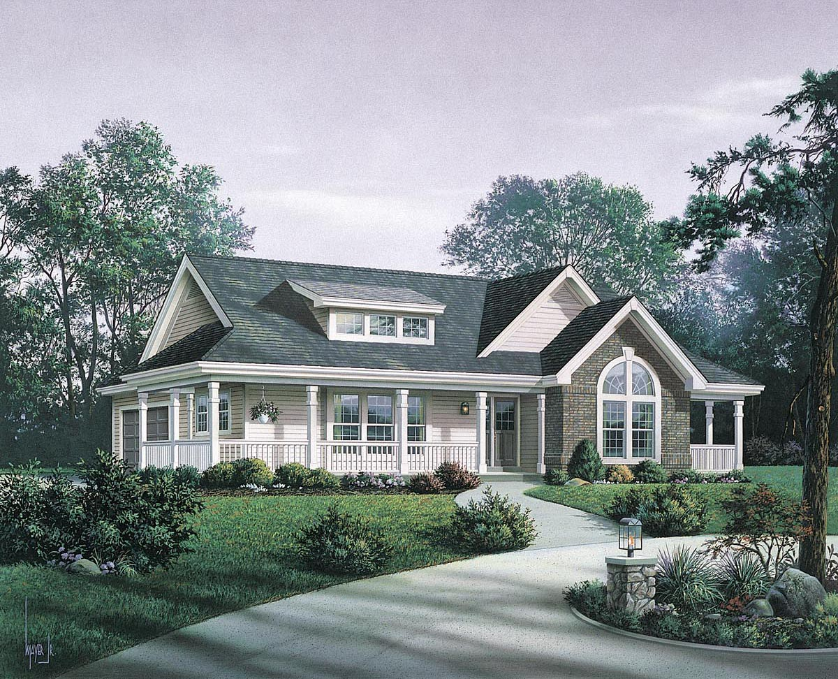 House plan 87811 at for Family home designs