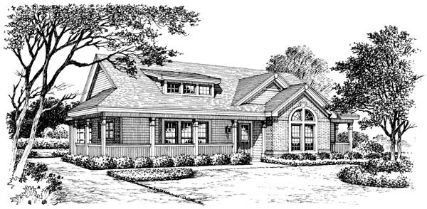 Bungalow Country Craftsman Ranch House Plan 87811