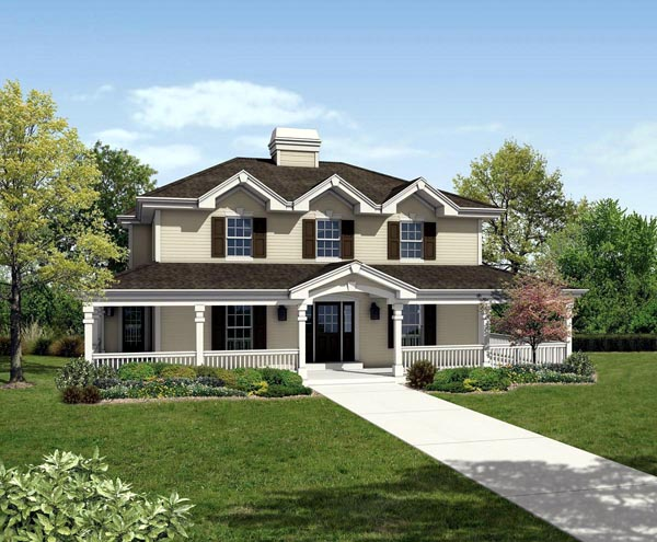 Colonial Country Traditional House Plan 87812