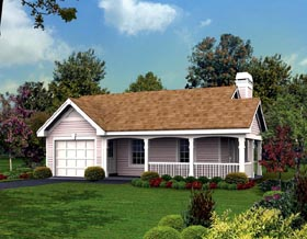 Cottage Country Ranch House Plan 87813 Elevation