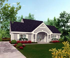 Cottage Country Craftsman Saltbox Southern Traditional Garage Plan 87815 Elevation