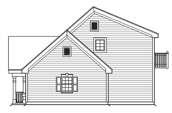 Cottage, Country, Craftsman, Saltbox, Southern, Traditional 4 Car Garage Apartment Plan 87815 with 1 Beds, 2 Baths Picture 2