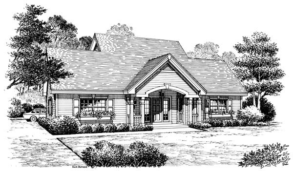 Cottage, Country, Craftsman, Saltbox, Southern, Traditional 4 Car Garage Apartment Plan 87815 with 1 Beds, 2 Baths Picture 3