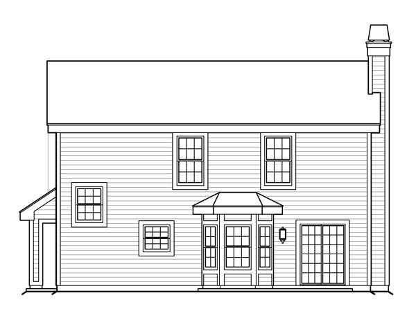 Cottage Traditional House Plan 87816 Rear Elevation