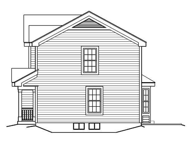 Country, Traditional House Plan 87819 with 2 Beds, 3 Baths, 1 Car Garage Picture 2