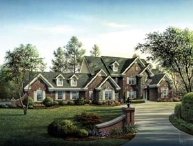 Cape Cod Country European Traditional House Plan 87820 Elevation