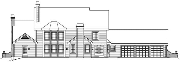 Cape Cod Country European Traditional House Plan 87820 Rear Elevation