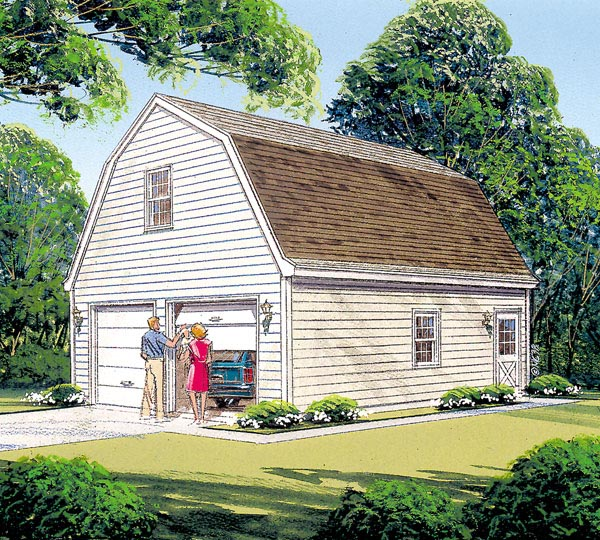 Garage Plan 87822 Elevation